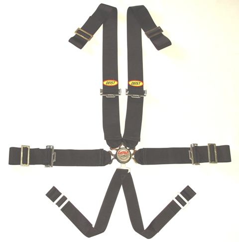"6 pt Compact Quick Release, 3"" Wrap-Around Lap, w/ Twin Harness."